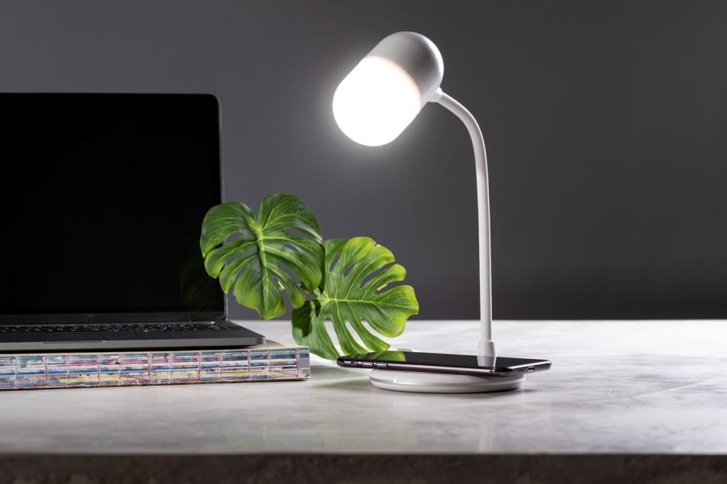 Propagační plastová multifunkční stolní lampa