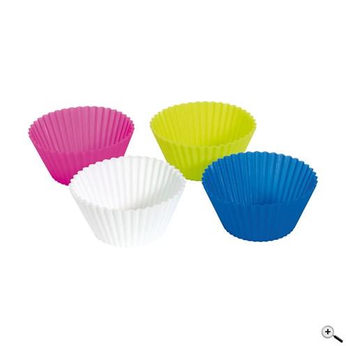 Reklamní 4 různě barevné flexibilní pečící šálky