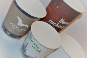 papírový kelímek na kafe s potiskem