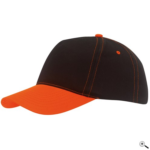 Baseballová čepice s barevným kšiltem