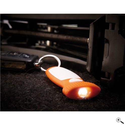 Klíčenka s bílým LED světlem