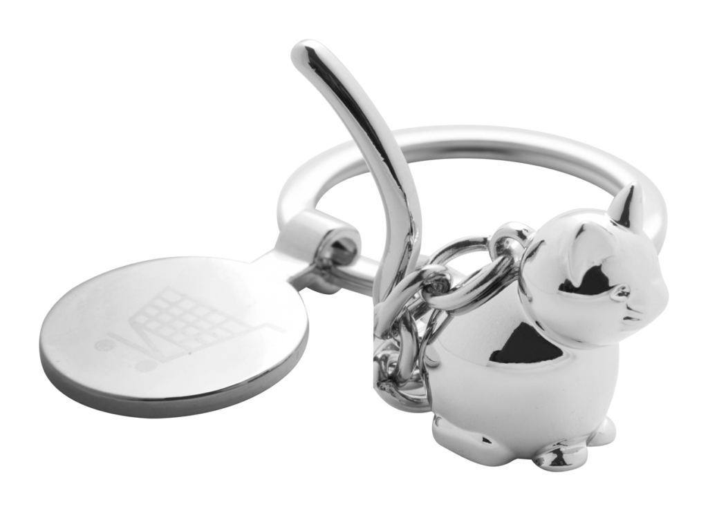 Přívěšek na klíče se žetonem do vozíku a s figurkou
