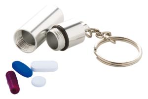 Pouzdro na léky s přívěškem na klíče