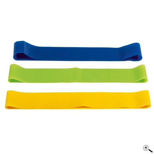 Reklamní elastické cvičební pásky v různých barvách a silách