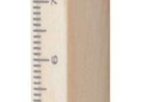 Dřevěné čtveraté kuličkové pero s 14 cm pravítkem