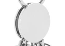 Kulatý kovový přívěšek na klíče s 5 odnímatelnými kroužky
