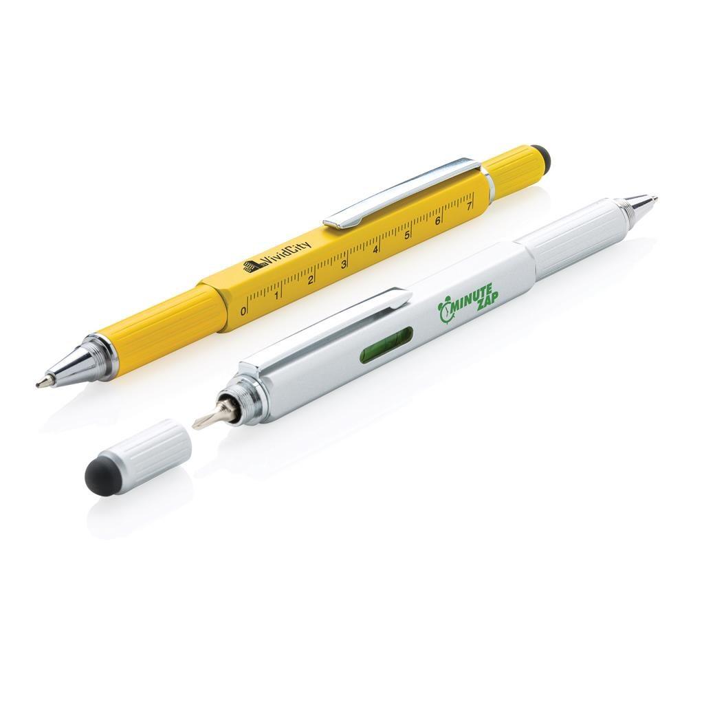 Reklamní multifunkční pero s pravítkem 7cm