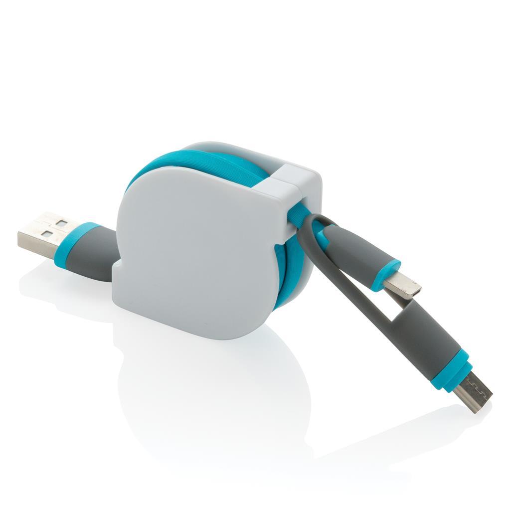 Zatahovací kabel 3v1