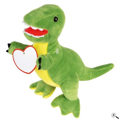 Propagační plyšový dinosaurus