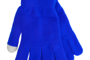 Dotykové rukavice se speciální povrchovou úpravou na palci a ukazováčku