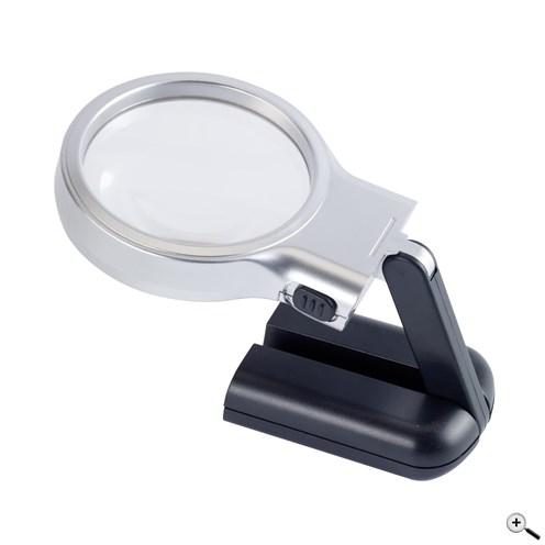Lupa s trojnásobným zvětšením, 2 bílými LED světly