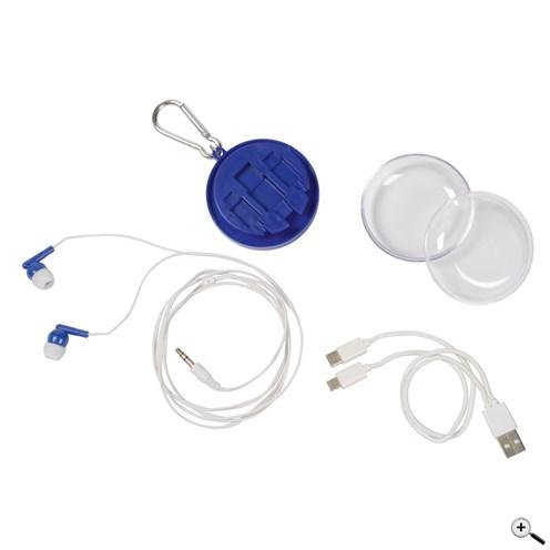 Sluchátka do uší s univerzálním nabíjecím kabelem