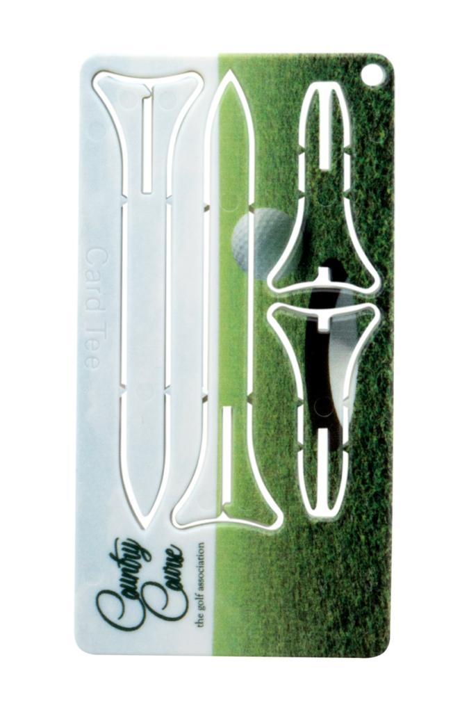 Karta s golfovými týčky 2 kusy