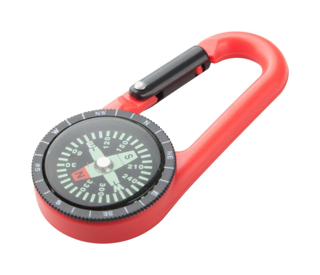 Propagační plastová karabinka s kompasem