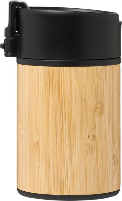 Sportovní láhev uvnitř vakuově izolovaná z venku z bambusu 200 ml