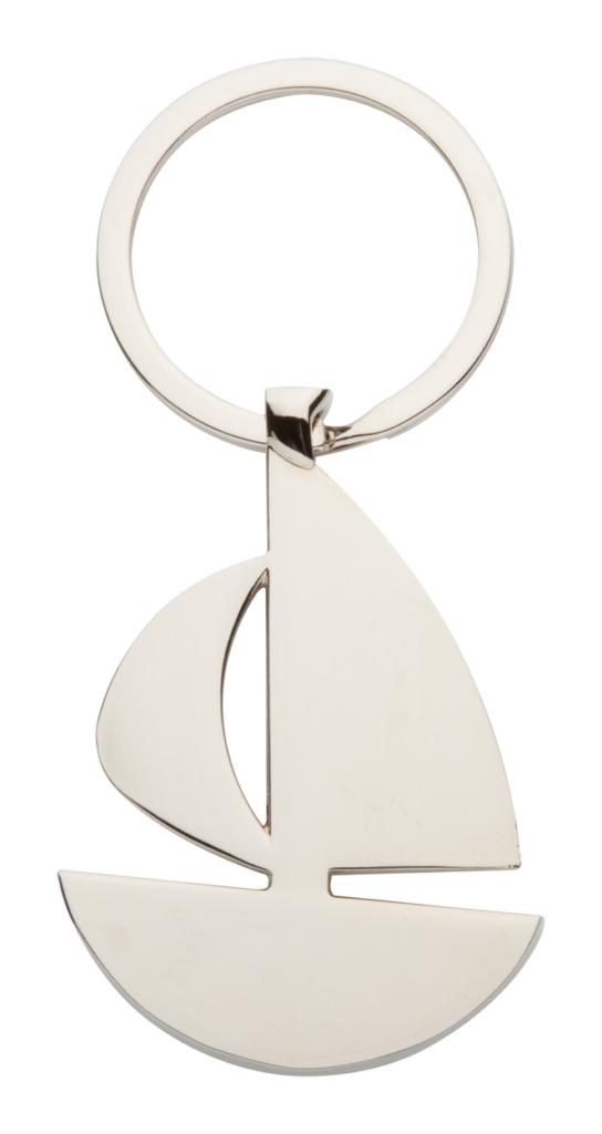 Kovový přívěšek na klíče ve tvaru plachetnice