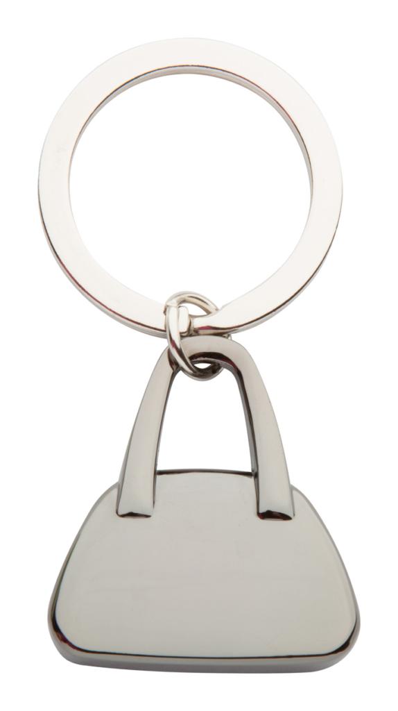 Kovový přívěšek na klíče ve tvaru tašky