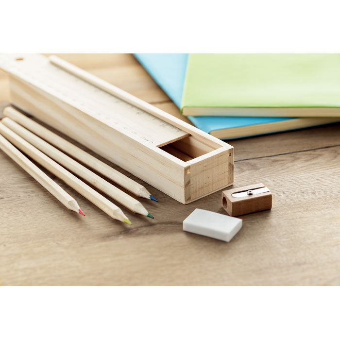 Propagační 12 dílný dřevěný set