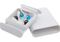 Sluchátka do uší se stojánkem na mobil