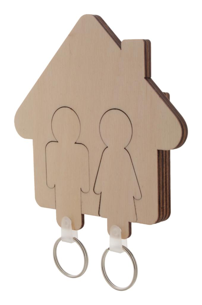 Věšák na klíče ve tvaru domečku