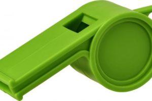 Propagační plastová píšťalka