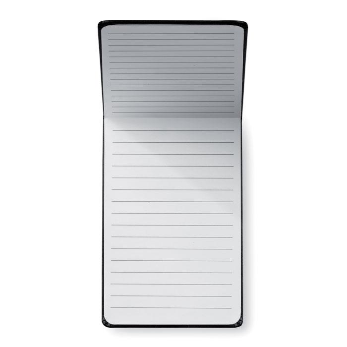 Vertikální zápisník A6 s pevným krytem