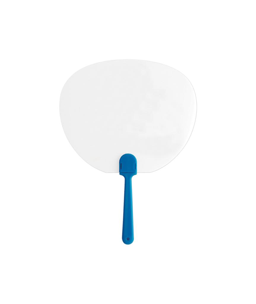 Plastový oválný vějíř s rukojetí