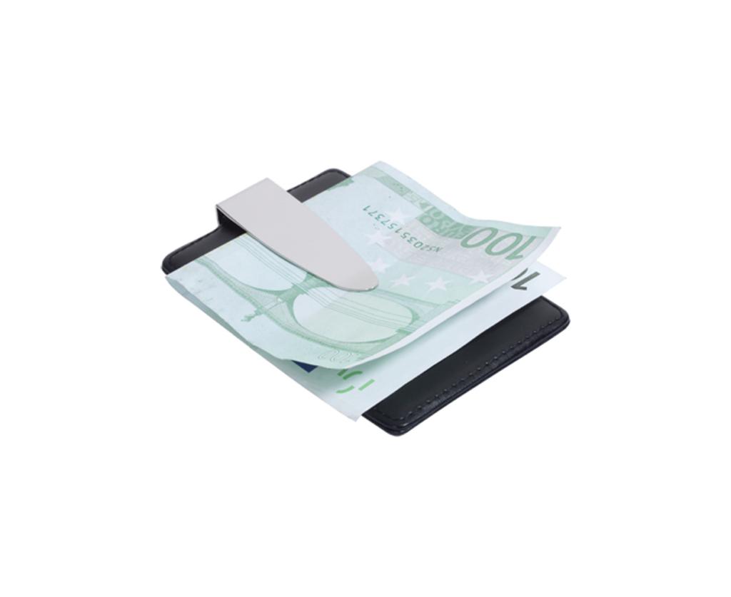 Držák na karty a s kovovou sponou na peníze
