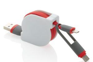 Kompaktní a zatahovací nabíjecí kabel 3 v 1 s typem C