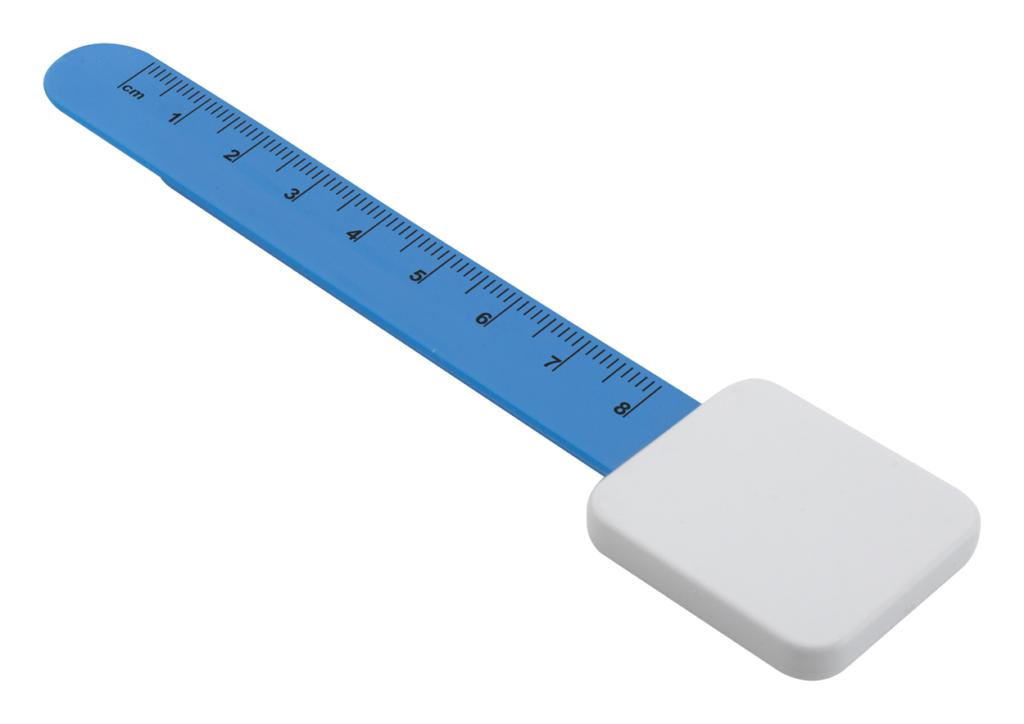 Plastová záložka s 8 cm pravítkem