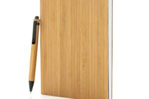 Poznámkový blok A5 z bambusu s perem