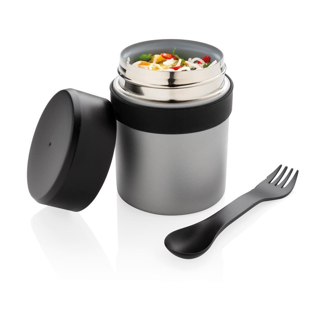 Vakuově izolovaná nádoba na potraviny s příbory