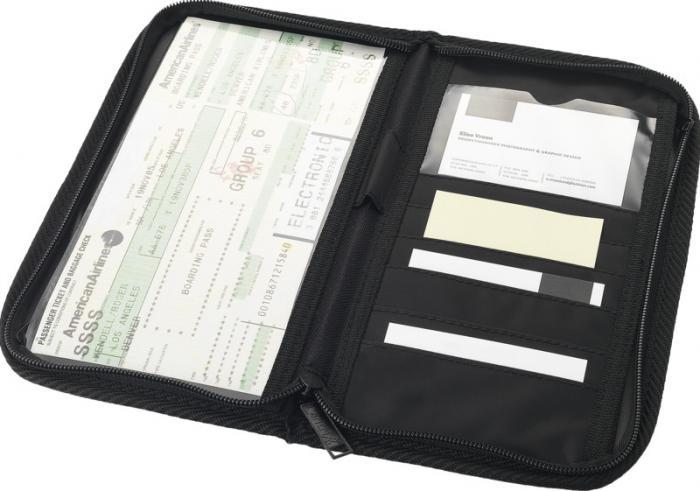 Cestovní peněženka s extra kapsami