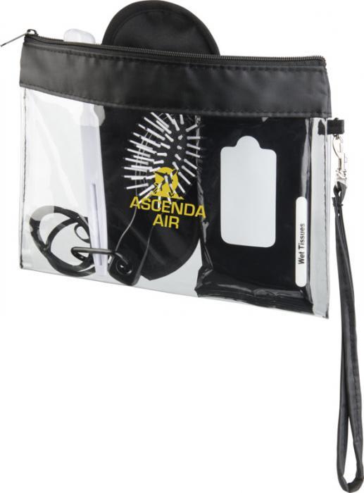 Průhledná cestovní taška s popruhem