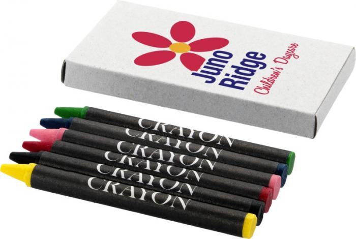 6 barevných voskových pastelek