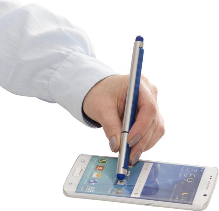 Kuličkové pero s odnímatelným uzávěrem a elastickým popruhem