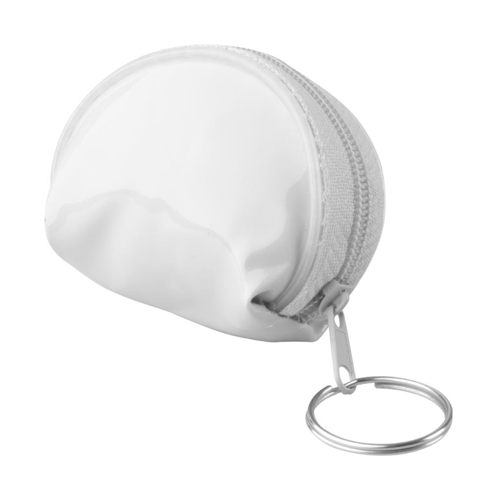 Mini peněženka na zip s kovovým kroužkem na klíče